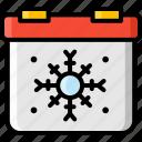 calendar, christmas, date, season, winter icon