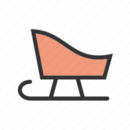 sled, sledding, sledge, snow, toy, winter, wooden icon