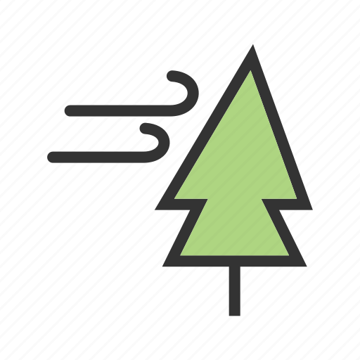 bent, grass, green, tree, trees, weather, wind icon