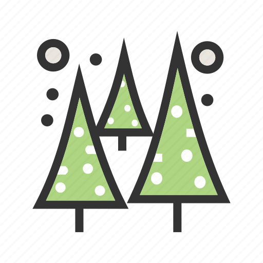 christmas, cold, pine, snow, tree, trees, winter icon