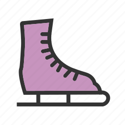 ice, skate, skates, snow, sport, winter icon