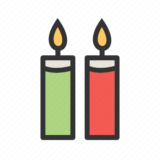 birthday, candle, candles, decoration, flame, light, wax icon