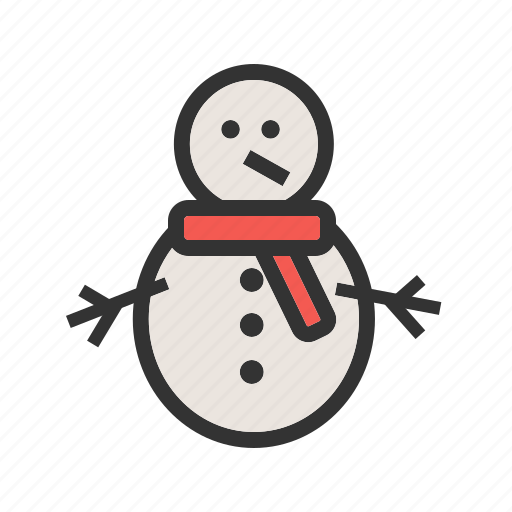christmas, holiday, red, santa, snowman, white, winter icon
