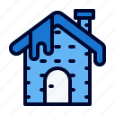 frost, house, snow, winter icon