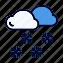 blizzard, forecast, freeze, snowfall, winter icon