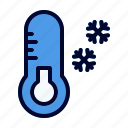 cold, freeze, thermometer, winter icon