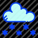 cloud, hail, snow, winter icon