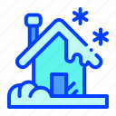 home, house, snow, winter icon