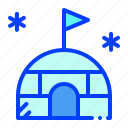 cold, home, igloo, winter icon