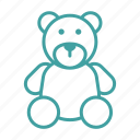 bear, gift, holiday, teddy, toy, winter icon