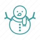 cold, holiday, snow, snowman, winter icon