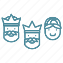 christmas, holiday, kings, men, winter, wise, wise men icon