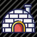 eskimo, icehouse, igloo, winter icon