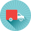 car, delivery, ecommerce, moving, shipping, transport, truck icon