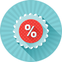 %, badge, discount, price, promotion icon