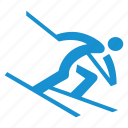 alpine, downhill skiing, race, racing, ski, skiing icon