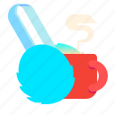 cup, earmuffs, fur, headphones icon