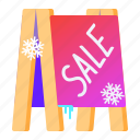 banner, sale, street, winter