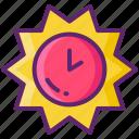 daylight, saving, time icon
