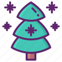 evergreen, tree, forest, nature icon