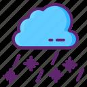 sleet, weather, forecast, raining, snowing icon
