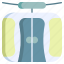 winter, transportation, transport, lift, ropeway, cableway, cabin icon
