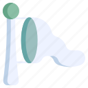 winter, windsock, direction, weather, air, airport, meteorology icon