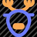 animal, blue, cold, deer, season, snow, winter icon