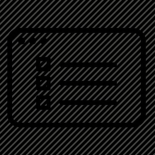 checklist, document, list, memo, tasks, to do list icon