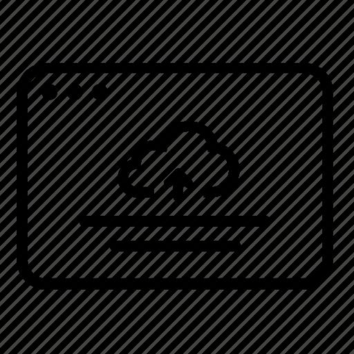 backup, cloud, file, files, share, transfer, upload icon