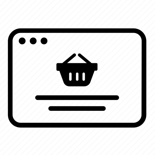 basket, ecommerce website, page, product, sales, shopping, web store icon