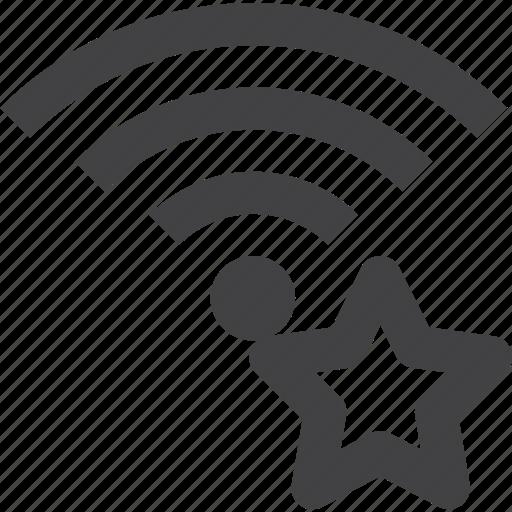 bookmark, favorite, signal, star, wifi, wireless icon