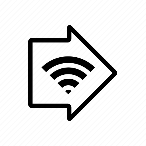 arrow, free wifi area, sign, wifi icon