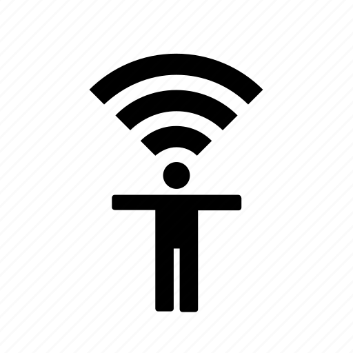 concept, wifi, wifi person, wireless man icon