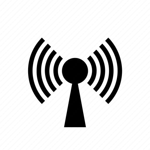 communication tower, internet, network, radio signal, radio tower, wifi, wireless antenna icon
