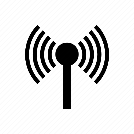 communication tower, network, radio signal, radio tower, wifi, wireless antenna icon