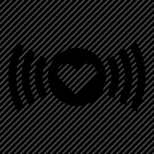 concept, heart, love, soul, valentines, wifi, wireless icon