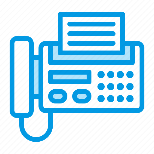 electronics, fax, office, phone icon