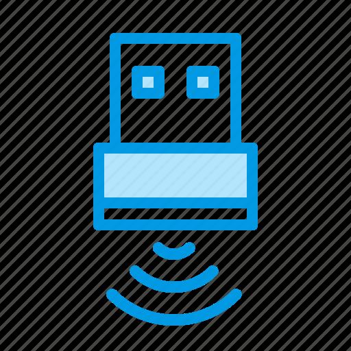 data, storage, usb, wifi icon