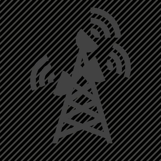 antenna  dish  satellite  tower  wifi icon