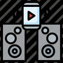 mobile, music, phone, speaker