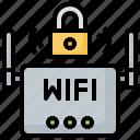 lock, modem, router, signal, ui, wifi