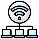 communication, computer, connection, laptop, transfer, wifi