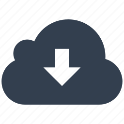 cloud, download, network icon