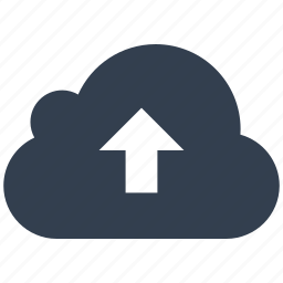 arrow, cloud, network, upload icon