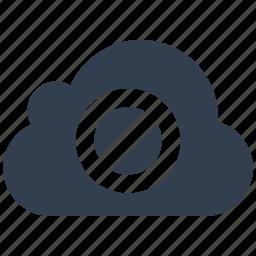 cloud, denied, forbidden, no entry icon