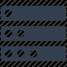 data, hosting, network, server, storage icon