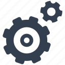 gears, motion, options, settings icon