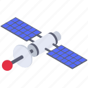 broadcasting, communication satellite, network satellite, space satellite, wireless transmission icon