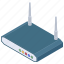 internet device, modem, network router, wifi router, broadband modem, wireless router icon